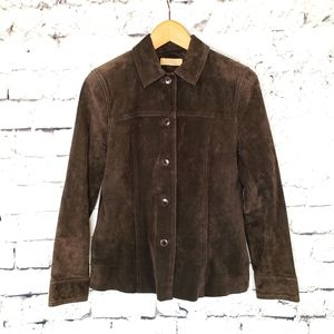 Kate Hill Suede Jacket Size 4 Petite
